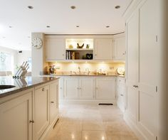 Like the shelves in the middle - Timeless Painted Design - Bespoke Kitchens - Tom Howley Home Decor Kitchen, Kitchen Living, New Kitchen, Home Kitchens, Kitchen Design, Kitchen Ideas, Bespoke Kitchens, Kitchen Collection, Kitchen Colors