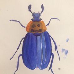 Bug #2 #watercolor #scketch # aqurelle #bug # insect