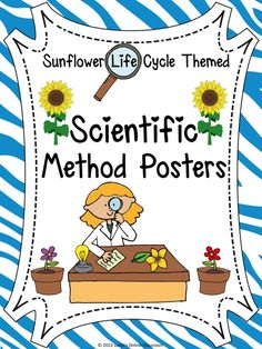 "SUPER EASY AND CUTE SCIENTIFIC METHOD POSTERS!  Each step in the scientific method represents a poster included within the product. Each page prints on 1 standard size piece of paper (8.5 x 11) in portrait format.  Our scientific method posters take students through the steps of a FICTIONAL science experiment based on the question ""Does the color of light affect the growth of plants and flowers?"".  $$"