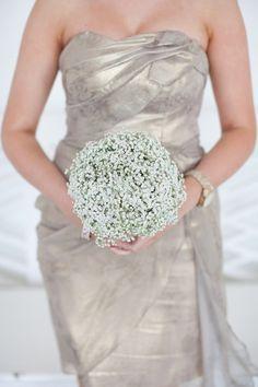 Image by Hayley Savage Photography. Wedding bouquet. gypsophila
