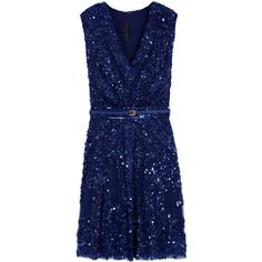 ELIE SAAB Sequin Section Dress (4,380 CAD) ❤ liked on Polyvore featuring dresses, vestidos, blue, short dresses, sequin cocktail dresses, sequin dresses, elie saab dresses, elie saab and short sequin dress