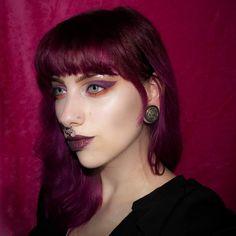 looking berrylicious in our Cranbaby Plum Purple Hair, Hair Colour, Hair Makeup, Book, Beauty, Fashion, Hair, Moda, Fashion Styles