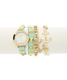 Studly Sailor Watch and Bracelet Set #shoplately