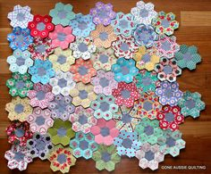 Gone Aussie Quilting: More English Paper Piecing.  Very pretty