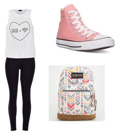 """I'd so wear this on a school day"" by ains9 on Polyvore featuring interior, interiors, interior design, home, home decor, interior decorating, Ally Fashion, Converse and JanSport"