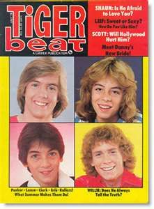Tiger Beat Magazine--I'm sure I had a picture of Scott from this one on my wall.