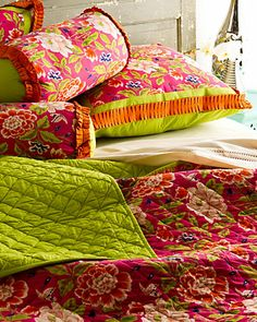 """Some of you have to get in on this: India Rose """"Onche"""" Quilted Bed Set"""