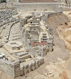 Maqueta de lo que fue la Ciudad de David en Jerusalén en tiempos de Jesús