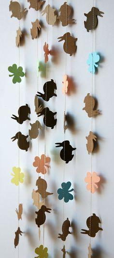 Bunny garland, Easter garland, Spring garland, Easter Bunny garland, Easter bunny banner, Easter banner, Easter Decor,