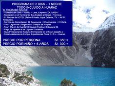 TOUR HUARAZ  2 DIAS – 1 NOCHES Operadores especializados en la organización de PROGRAMA DE TOURS EN HUARAZ ANCASH PERU, contamos con un equipo de profesionales de experiencia laboral en el campo del Turismo Convencional – TOUR - BUS, cuyo objetivo principal es brindar calidad, seguridad y garantía en todos nuestros servicios, de esa manera, cumplir con las expectativas y exigencias del Cliente. Nosotros le ayudaremos en la organización de su Programa de Tours en Perú