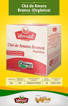 Chá Vemat de Amora Branca Orgânica 13gr