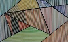 Me encanta el efecto de las lineas negras que se recortan sobre las otras!!!