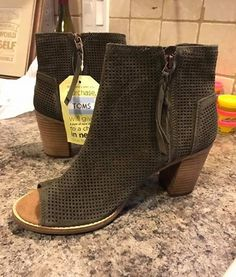 85e849dc7193 TOMS Majorca Perforated Peep Toe Booties from Stitch Fix. https   www.