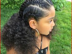 Hairstyles For Black Teenage Girls - Best Kids Hairstyle hair styles for black teenage girls - Hair Style Girl Mixed Curly Hair, Curly Hair With Bangs, Short Hair Updo, Braids For Black Hair, Long Curly Hair, Hairstyle For Curly Hair, Little Girl Curly Hair, Mixed Race Hairstyles, Baby Girl Hairstyles