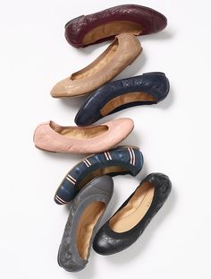 A fall essential: our leather comfy, cushioned ballet flats. Get one in every color, you can't resist.