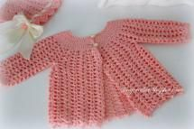 Lace Crochet Baby Sweater Free Pattern - Lacy Crochet