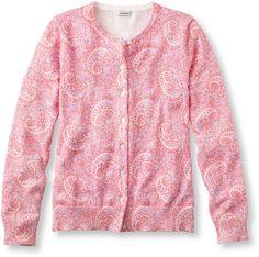 Lightweight Fine-Gauge Sweater, Cardigan Paisley