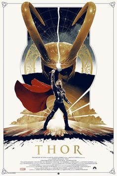 Licensed under Marvel Studios, Grey Matter is proud to present these limited edition screen prints of the Marvel movie Thor. Working with the very talented Matt Ferguson this is Grey Matters first Thor poster. Poster Marvel, Marvel Movie Posters, Best Movie Posters, Movie Poster Art, Marvel Art, Marvel Characters, Marvel Movies, Marvel Heroes, Robert E Howard