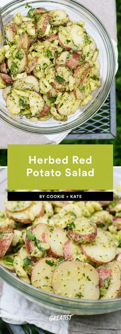 They're way healthier than the store-bought kind. #greatist https://greatist.com/eat/potato-salad-recipes