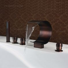 Mooni Waterfall Oil Rubbed Bronze Bath Mixer Shower