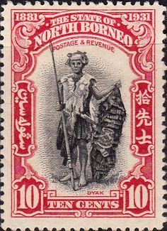 North Borneo postage stamp from 1931 Malayan Emergency, Stamp Values, Postage Stamp Collection, Old Stamps, Postage Stamp Art, British Colonial, Borneo, Stamp Collecting, My Stamp