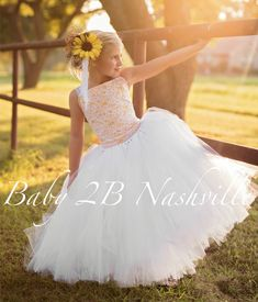Sunflower Dress Sequin Dress White Dress Lace by Toddler Christmas Dress, Toddler Dress, Baby Dress, Tulle Dress, Sequin Dress, Dress Lace, Tutu Dresses, White Flower Girl Dresses, Girls Dresses