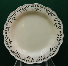 Antique English Creamware reticulated Pottery Plate  c1770-1780, probably Leeds