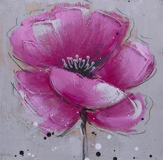 Abstract Canvas Art, Diy Canvas Art, Acrylic Art, Oil Painting On Canvas, Acrylic Flowers, Abstract Flowers, Flower Frame, Flower Art, Beginner Painting
