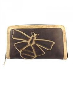 Fashion Handmade Leather Bee Wallet - brown @ www.ThePrestigeShop.com