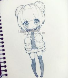 My posts keep failing to upload to instagram, hopefully this time it works~! #chibi #sketch