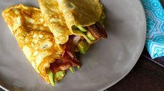 Savoury Paleo Crepes with Bacon and Avocado Recipe.