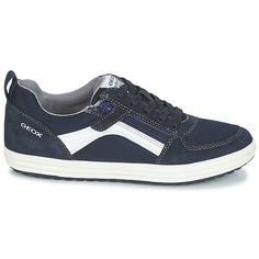 c45a4c7f6b689 Geox - J VITA A. Zapatos Niño Zapatillas bajas Geox J VITA A Azul   Blanco
