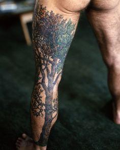 DiscoThing | tree leg #tattoo