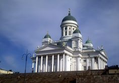 Helsinki Cathedral on Senate Square. This is the white lutheran cathedral. Originally called Nikolai church, 1852.