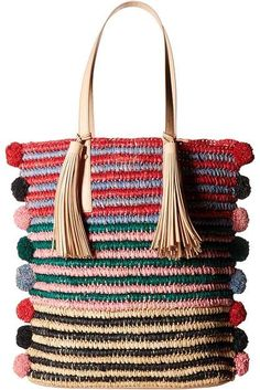 online shopping for Loeffler Randall Cruise Tote from top store. See new offer for Loeffler Randall Cruise Tote Bead Crochet Patterns, Sweater Knitting Patterns, Handmade Purses, Handmade Handbags, Tote Handbags, Purses And Handbags, Modern Crochet, Boho Bags, Crochet Handbags