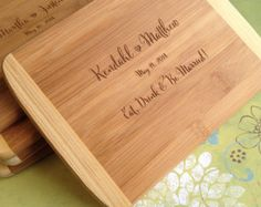 Engraved Wood Cutting Board, Bridal Shower Gift, Wedding Present, Unique Wedding Gift, Laser Engraved, Eat, Drink Be Married!