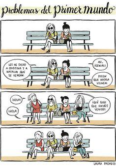 Problemas del primer mundo: reunión de amigas. #humor #risa #graciosas #chistosas #divertidas
