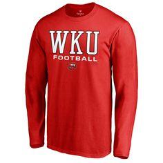34b91a27d3e Men s Fanatics Branded Red Western Kentucky Hilltoppers True Sport Football  Long Sleeve T-Shirt Sport