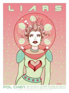 HAVE :: Tara McPherson Liars/Fol Chen print. Signed/numbered. Limited to 125