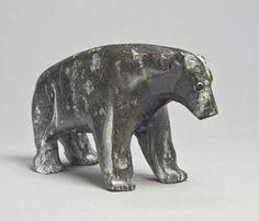 Polar Bear by Sam Nashooratook. Inuit Art   Winnipeg Art Gallery, via wag.ca
