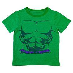 Toddler Boys' Hulk Costume T-Shirt - Green 5T, Toddler Boy's