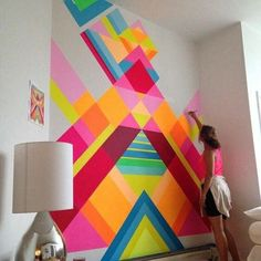 Adorable Home Interior Decoration Ideas With Wall Paint 40 + Adorable Home Interior Decoration Ideen mit Wandfarbe, Diy Wand, Diy Wall Decor, Diy Home Decor, Room Decor, Decoration Crafts, Interior Design Inspiration, Decor Interior Design, Interior Paint, Design Ideas