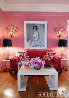 Fresh Color Combo: Pink & Red apartmenttherapy.com