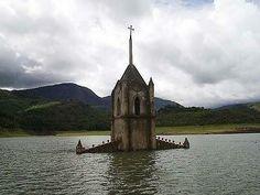 Venezuela, the drowned church of Potosi.