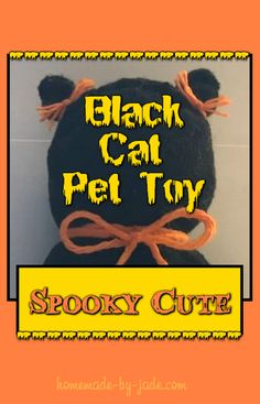 Black Cat Pet Toy - Homemade by Jade Animals And Pets, Cute Animals, Cute Animal Pictures, Pet Toys, Fun Projects, Your Pet, Jade, About Me Blog, Homemade