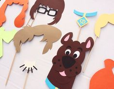 Scooby Doo Inspired Photo Booth Props by LetsGetDecorative on Etsy