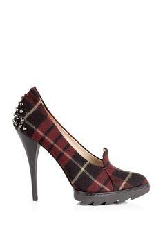 Uh oh. McQ Alexander McQueen Tartan Pointed Court Shoe
