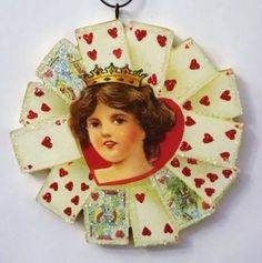 queen of hearts valentine ornament