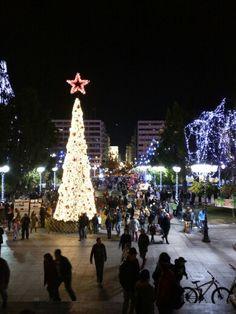 Syntagma Square Four Square, Greece, Christmas Tree, Holiday Decor, Pretty, Home Decor, Greece Country, Teal Christmas Tree, Decoration Home