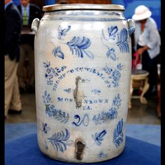Thompson & Williams 20 Gallon Stoneware Crock, ca. 1875